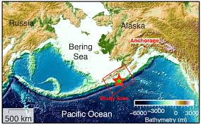 Alaska Russia Map by Scientists Discover Fault Linked To Unusually High Tsunami Risk In