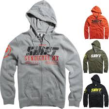 shift motocross helmets mx stockade zip mens fleece hoody