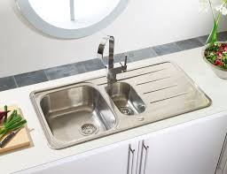 Kitchen Sinks With Drainboard by Double Kitchen Sink Stainless Steel With Drainboard Topaz