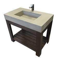 Concrete Bathroom Sink by Bathroom Bathroom Two Tones Wood Concrete Trough Sink Combined