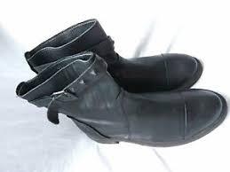 zara womens boots uk zara womens black leather winter buckle boots slip on