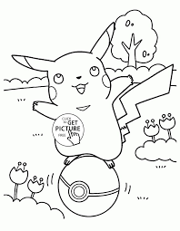 pikachu pokemon coloring pages kids pokemon characters