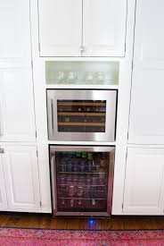 Kitchen Microwave Cabinets Adding A Built In Wine Fridge In The Kitchen The Chronicles Of Home