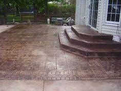 Images Of Concrete Patios Stamped Concrete Instead Of Slate Elements Of Style For The