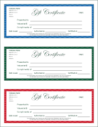 gift certificate free template custom gift certificate templates