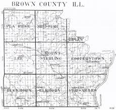 County Map Illinois by Brown Co Il Graveyards Il Saving Graves