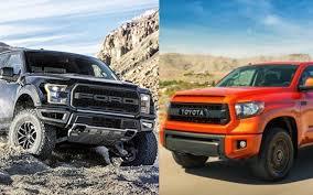 toyota tundra ford f 150 svt raptor vs toyota tundra trd pro carstory