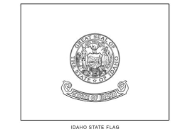 gorgeous design idaho state flag coloring page 10 world flags