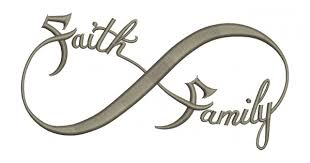 faith family infinity filled machine embroidery digitized design