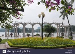 Flower Garden Hanoi by Thong Nhat Park Hanoi Vietnam Stock Photo Royalty Free Image