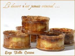 eryn folle cuisine petits pots de poires caramélisées en nid de flan pâtissier crumble