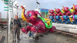 flying elephants by luna park rides set up video youtube