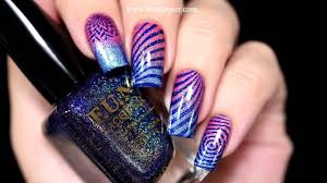 stamping holo nail art f u n lacquer youtube