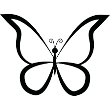 butterfly wing outline butterflies outlines butterfly outline