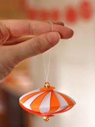 diy striped paper ornament how about orange