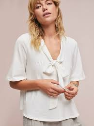 blouses with bows white casual blouses bows embellished collar half sleeve top for