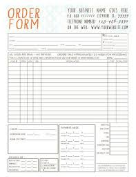 Photography Order Form Template Excel 25 Best Order Form Ideas On Photoshop Price