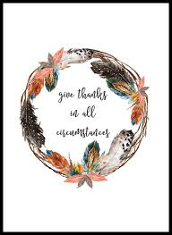 thanksgiving give thanks give thanks feather wreath printable