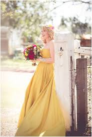 yellow wedding dress 25 gorgeous looks for the offbeat