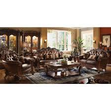 acme furniture vendome 3pc livingroom set in cherry pu local