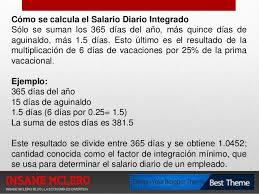 Cmo Calcular El Salario Diario Integrado Con Sueldo | presentacion como funciona el salario diario integrado