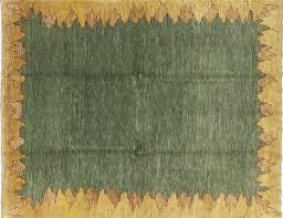 Gabbeh Rugs Sale 8 X 10 Green Gabbeh Wool Area Rug H8359