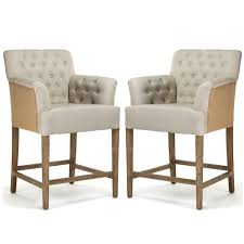 Tufted Upholstered Chairs Tufted Jute Counter Stools Two Tone Upholstery