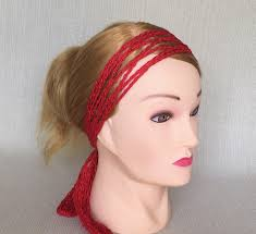 hippy headband crochet hair scarf hippie headband wrap scarf