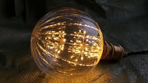 large pumpkin style fireworks led light edison bulb lamp