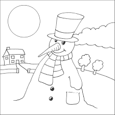 snowman coloring page printable free lonely snowman coloring