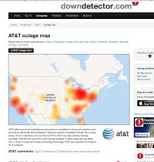 At T Service Map Common Sense Journalism At U0026t U0027s Massive Outage Shows How Not To Do