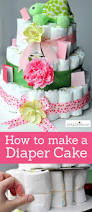 how to make a diaper cake easy baby shower craft