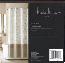 nicole miller golden rule gold scrolls and pintucks shower curtain nicole miller golden rule gold scrolls and pintucks shower curtain