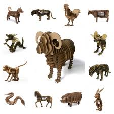 3d chinese zodiac animal model paper craft jigsaw puzzle paper