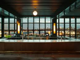 explore the chic industrial modern lobby of wythe hotel by