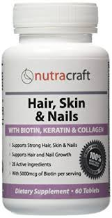 1 hair skin u0026 nails supplement with 5000mcg of biotin keratin
