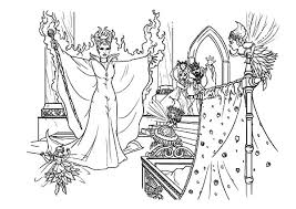 maleficent put curse baby princess aurora coloring pages