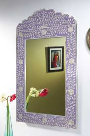 Ideas For Bone Inlay Furniture Design Online Store Purple Color Shade Bone Inlay Wall Mirror Frame