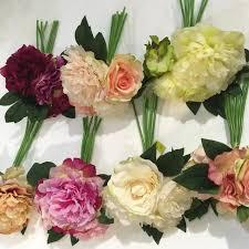 silk flowers wholesale wholesale 80 wedding flower peony bundle silk bouquet