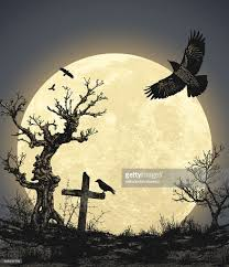 halloween moon background halloween background with full moon vector art getty images