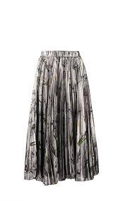 pleated skirt silk lamé pleated skirt kaelen nyc