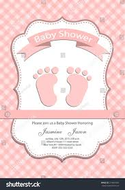celebrity baby shower invitations baby baby shower invitation card stock vector 214891906