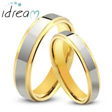 two tone wedding rings two tone tungsten wedding bands set step edge gold tungsten