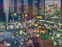 New Orleans Convention Center Map by Las Vegas City Tourist Map Las Vegas Nevada State Usa Maps