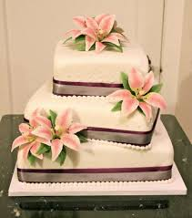 wedding cake gum 3 tier wedding cake with gum paste lilies cakecentral