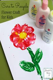 to recycle flower craft for kids