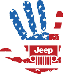 jeep decal american flag jeep wave decal u2013 drew u0027s decals