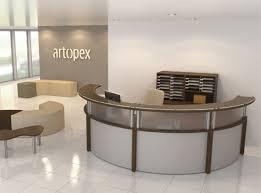 Free Standing Reception Desk Receptions Freestanding Furniture Artopex Showroom