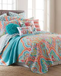 turquoise quilted coverlet majestic luxury quilt print quilts bedding bed bath stein mart