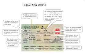 macau visa application requirements